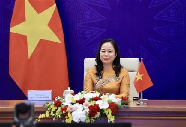Вице-президент страны Во Тхи Ань Суан принимает участие в третьем Евразииском женском форуме hinh anh 2