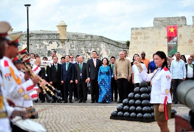 Высокопоставленная делегация Коммунистическои партии Вьетнама совершила рабочии визит на Кубу hinh anh 1