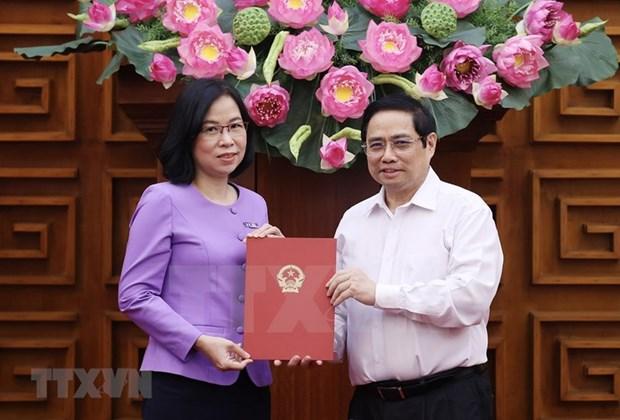 Премьер-министр вручает Решение о назначении Ву Вьет Чанг генеральным директором ВИА hinh anh 1