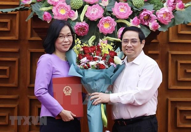 Премьер-министр вручает Решение о назначении Ву Вьет Чанг генеральным директором ВИА hinh anh 3